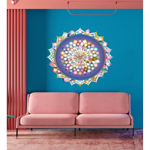Multifaceted Mandala Wall Decal, Multifaceted Mandala Wall sticker, Multifaceted Mandala wall decor