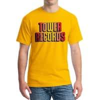 Tower Records Logo Shadow Men's Gold T-shirt
