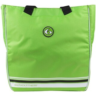6 Pack Fitness Prodigy Camille Meal Management Tote - Lime/Black