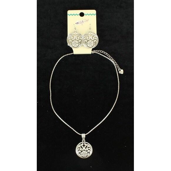 Blazin Roxx Jewelry Womens Necklace Earrings Filigree Silver 30894