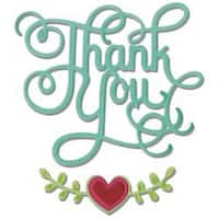 Thank You W/Hearts - Sizzix Thinlits Dies 3/Pkg