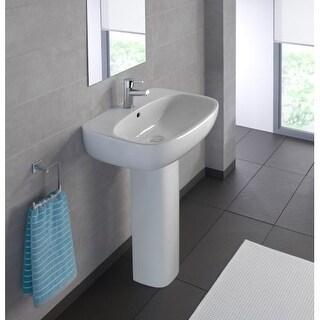 "Bissonnet Moda 60 Pedestal Moda 23-5/8"" Vitreous China Pedestal Bathroom Sink wi"