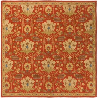 Gracewood Hollow Brooks Hand-tufted Floral Wool Area Rug