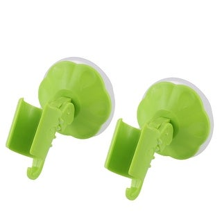 2pcs Attachable Bathroom Shower Head Holder Wall Suction Cup Bracket Green