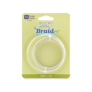 Artistic Wire Braid 12Ga 2.1mm Tarnish Silver 5ft