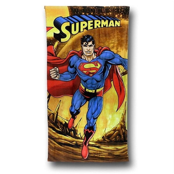 Superman Firely Planet Beach Bath towel