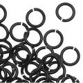 Artistic Wire, Chain Maille Jump Rings, 20 Ga / ID 3.57mm / 180pc, Black Color - Thumbnail 0