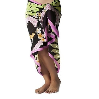 Plus Size Swimsuit Sarong Cover up in Hawaiian Print