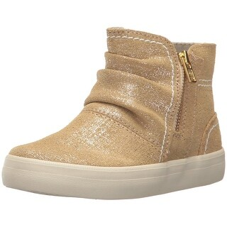Sperry Crest Zone Ankle Boot, Gold/Metallic, Size 5 Medium US Big Kid
