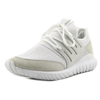 Adidas Tubular Radial Men  Round Toe Suede White Running Shoe