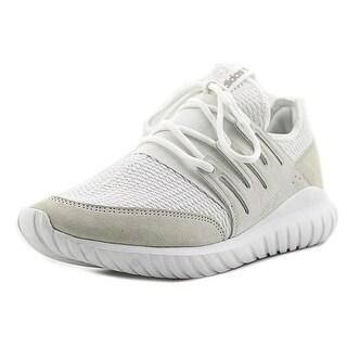Adidas Tubular Radial Men Round Toe Suede White Running Shoe