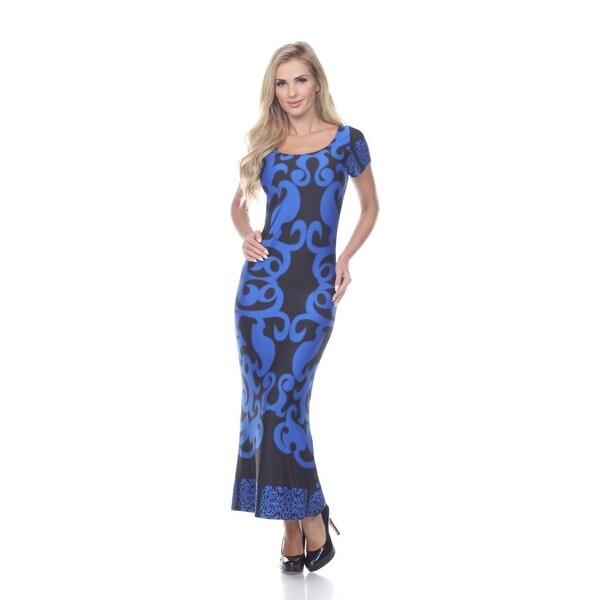 Shop Raven Maxi Dress Royal Blue On Sale Free Shipping On