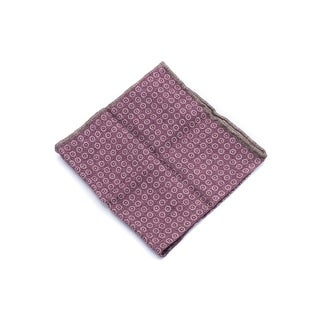 Brunello Cucinelli Men's Red Geometric Wool Pocket Square