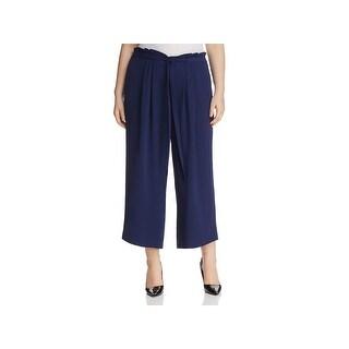 Michael Kors Womens Plus Gaucho Pants Crepe Pleated