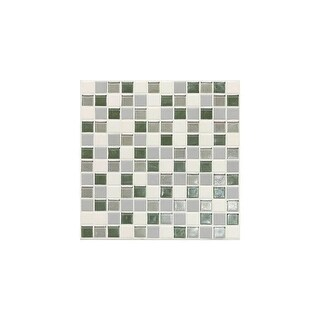 "Daltile CK11P Coastal Keystones - 1"" x 1"" Square Mosaic Multi-Surface Tile - Polished Varied Visual"