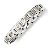 Chisel Titanium & 14k Inlay 8.25in Bracelet
