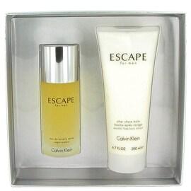 ESCAPE by Calvin Klein Gift Set -- 3.4 oz Eau De Toilette Spray + 6.7 oz After Shave Balm - Men