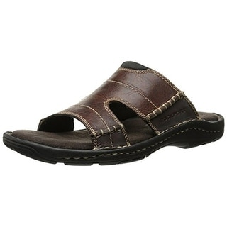 Rockport Mens Leather Casual Slide Sandals - 10 medium (d)