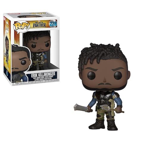 Funko POP Marvel Black Panther Movie-Erik Killmonger Collectible Figure