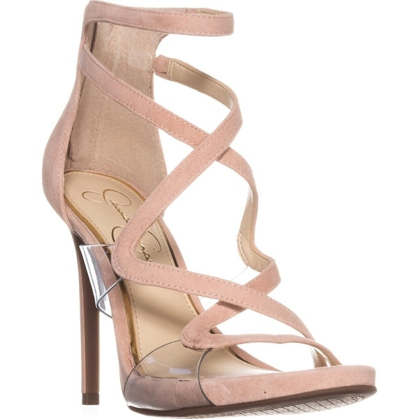 Jessica Simpson Roelyn Heeled Strappy Sandals, Nude Blush - 8 us / 38 eu