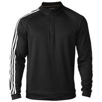 Adidas Men's 3-Stripes 1/4 Zip Black/White Pullover AE4893 (Medium Only)