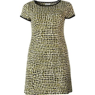 Calvin Klein Womens Matte Jersey Printed Casual Dress