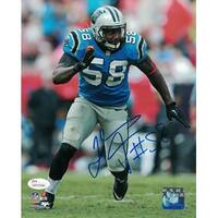 Thomas Davis Autographed Carolina Panthers 8x10 Photo Blue Rush JSA