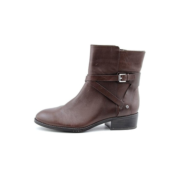 Ralph Lauren Womens MARISOL Leather Almond Toe Ankle Fashion Boots