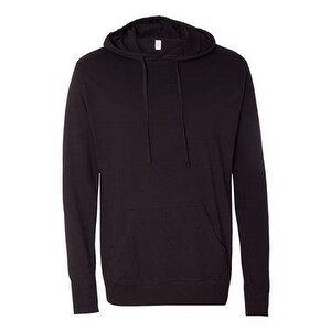 Independent Trading Co. Lightweight Hooded Pullover T-Shirt - Black - L