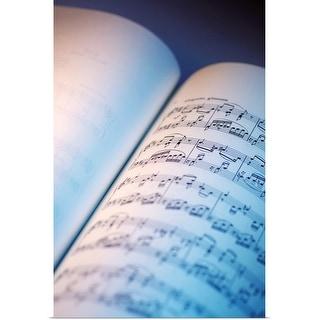 """Close-up of sheet music"" Poster Print"
