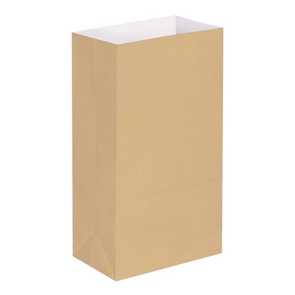 Pack of 100 Traditional Kraft Brown Decorative Luminary Bags 11""
