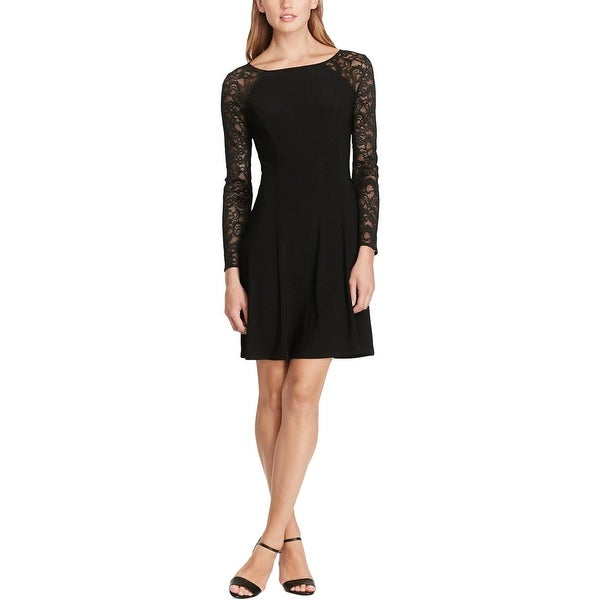 a4cf8c0fcd9 Shop American Living Womens Party Dress Lace Sleeve Boat Neck - Free  Shipping On Orders Over  45 - Overstock - 18693487