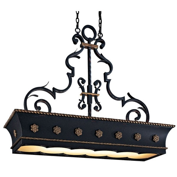 Metropolitan N6107 12-Light 1 Tier Linear Chandelier from the Montparnasse Collection - french black