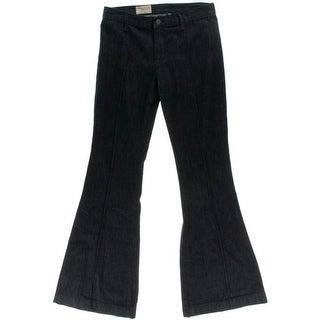 Polo Ralph Lauren Womens Malissa Flare Jeans High Rise Pintuck - 26