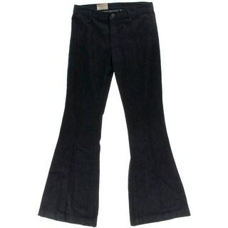 Polo Ralph Lauren Womens Malissa Flare Jeans High Rise Pintuck
