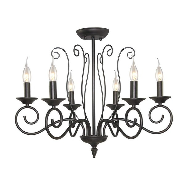 Shop 6 Light Traditional Candle Chandelier