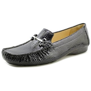Donald J Pliner Loren Round Toe Patent Leather Loafer