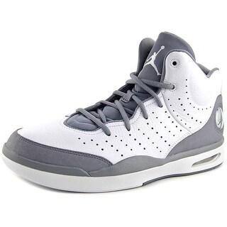Jordan Flight Tradition Men Round Toe Leather Gray Basketball Shoe