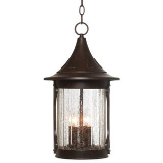 "Designers Fountain 20934-CHN 4 Light 11"" Cast Aluminum Hanging Lantern from the Canyon Lake Collection"