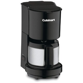 4 Cup Coffee Maker Black Stainlss 4-Cup Coffeemaker with Stainless Steel Carafe