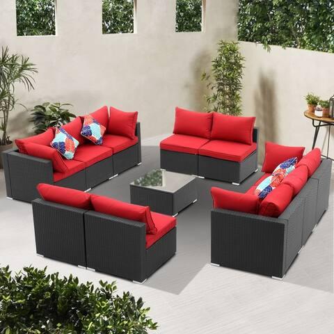 Ainfox 7-/9-/11-pc. Rattan Sofa Sectional Set