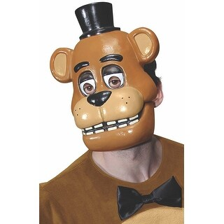 Five Nights at Freddy's Freddy Costume Half Mask Adult - Brown