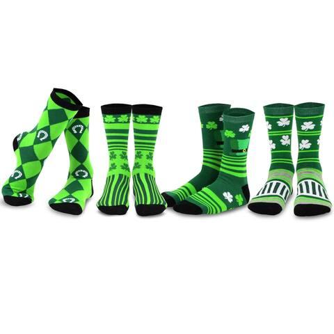 TeeHee St. Patricks Day Cotton Crew Socks Assorted 4-Pair Asst-B