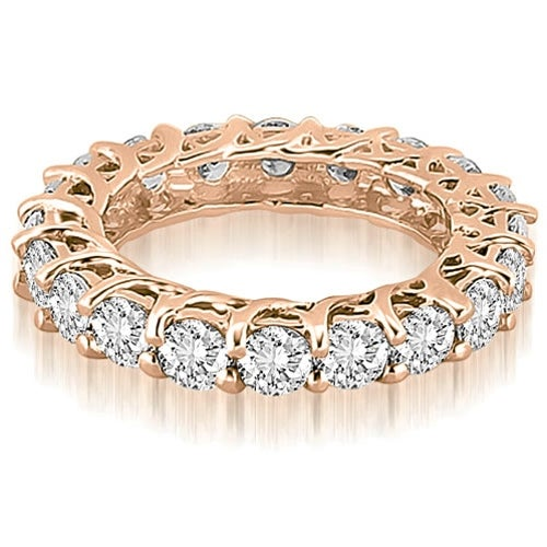 14K Rose Gold 5.10 cttw. Round Diamond Eternity Ring HI,SI1-2