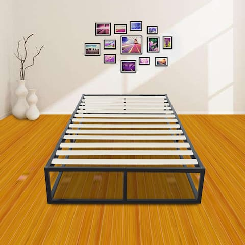 Household Bedroom Simple Basic Iron Bed Sleeper Black