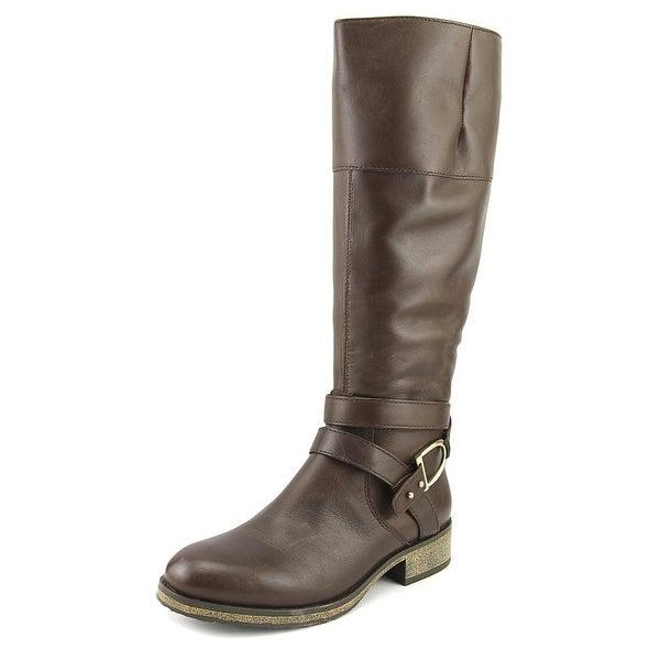 9ff4b4c064a Shop Bandolino Tess Women Round Toe Leather Brown Mid Calf Boot ...
