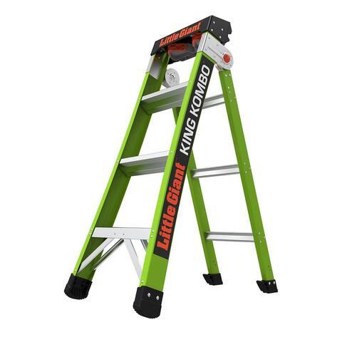 Little Giant King Kombo Professional 4'-7' Fiberglass 3-in-1 Ladder