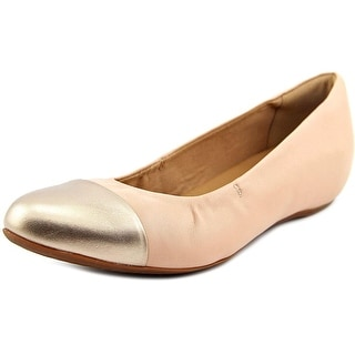 Clarks Alitay Susan Women Round Toe Leather Nude Flats