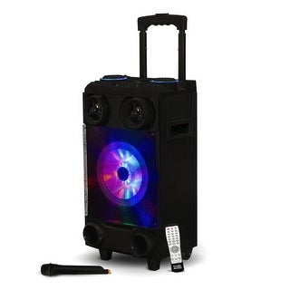 Acoustic Audio RPS8 Portable Bluetooth Speaker LED Display Rechargeable & Mic