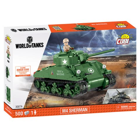 COBI Small Army WOT M4 Sherman 500 Piece Construction Blocks Building Kit
